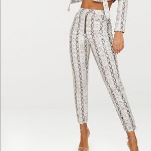 Snake Print Trouser {PrettyLittleThing Edition}.